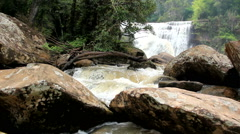 Friendship Waterfall Thailand - Laos  Stock Footage