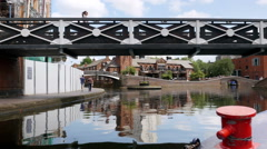 Birmingham city centre canals. Stock Footage