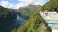 View Point Ornesvingen Geiranger Norway Footage