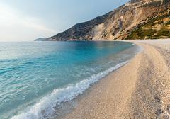 Myrtos beach (greece,  kefalonia, ionian sea). Stock Photos