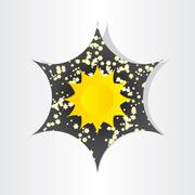 Stock Illustration of star in universe stars sun sunlight abstract design