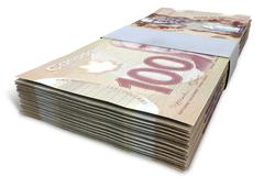 Canadian dollar notes bundles Piirros