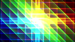 4K Prismatic grid star abstract background loop, rgb, 3 shimmer Stock Footage