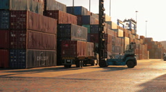 Malta Freeport Containers 4 (transhipment Hub) Stock Footage