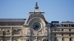 Time passing quickly on the clock on the musee d'orsay, Paris Stock Footage