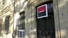 Societe Generale in France Stock Footage
