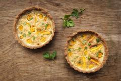 Buckwheat Carrot Tarts, Lactose-free and gluten-free - stock photo