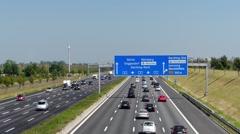 German Autobahn Motorway Expressway To Berlin Nuremberg Munich Germany Europe - stock footage