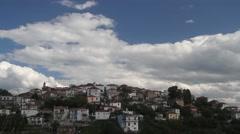 Mediterranean village on a hill Stock Footage