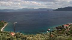 View to a mediterranean gulf Stock Footage
