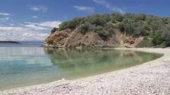 Beautiful bay and pebble beach Stock Footage