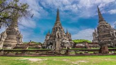 4k timelapse of Pagoda at wat phra sri sanphet temple Stock Footage