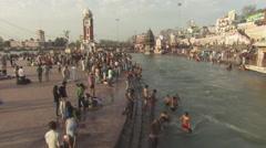 Har Ki Pauri, Haridwar Stock Footage