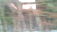 Rail Ride filmed from inside Stock Footage