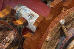 Old rusty cogwheel Stock Photos