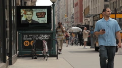 NYC B Roll - 23st Subway Stop entrance Stock Footage