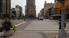 NYC B Roll - Flatiron building - stock footage