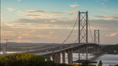 Forth Road Bridge - stock footage
