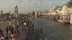 Har ki pauri ghat haridwar Stock Footage