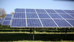 Solar Panels - renewable energy! tilt. Stock Footage