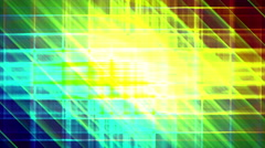 4K Prismatic grid star abstract background loop, rgb, 3 bright shimmer Stock Footage