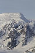 mountains and glaciers western antarctic peninsula - stock photo