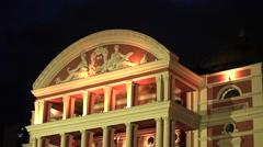 Amazon Theater in Manaus, Brazil Stock Footage
