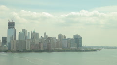 Static shot of Downtown nyc skyline - stock footage