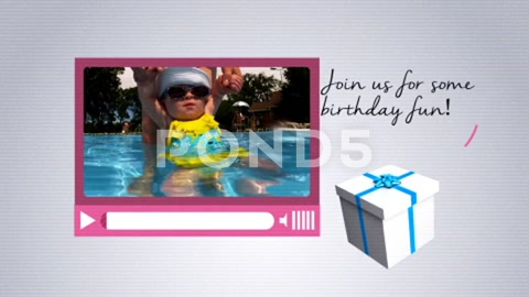 After Effects Project - Pond5 Birthday Invitation 40360087