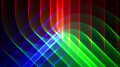 4K Prismatic RGB tri star abstract background loop Stock Footage