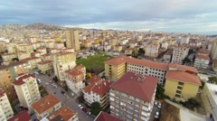 Maltepe, Istanbul from aerial camera. Houses along suburban architecture Stock Footage