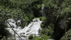 Scenic Waterfall in the woodlands Stock Footage