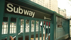 Subway Exterior - NYC b roll Stock Footage