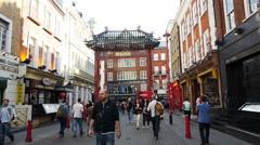 Chinatown, Soho, London Stock Footage