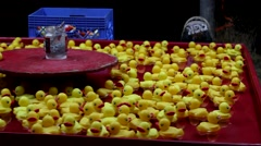 Rubber Ducky Night At The Carnival Stock Footage