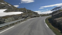 Panoramic drive, hjelledalen, norway Stock Footage