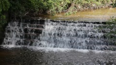 Waterfall with water sound Stock Footage