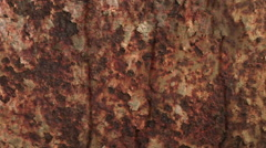 Rust background close up tracking shot Stock Footage