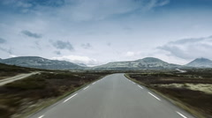 Scenic drive, rondane nationalpark, norway Stock Footage