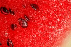 watermelon pulp with seeds closeup - stock photo