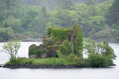 Old Stone House on Island Stock Photos