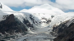 Clouds over glacier time lapsev Stock Footage