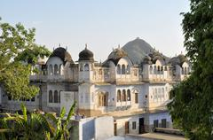 Traditional architecture in Pushkar, Rajasthan Stock Photos