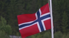Flag of norway, slow motion Stock Footage