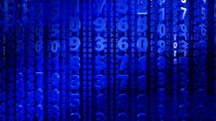 Abstract numbers in blue color Stock Footage