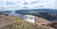 4k timelapse, preikestolen, norway Stock Footage