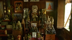 Stock Video Footage of Elaborate Household shrine