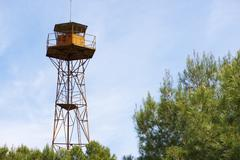 watch tower - stock photo