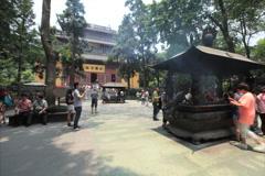 Lingyin Temple time lapse v1 4K 24 Stock Footage