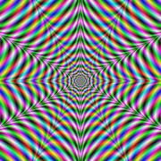 Twelve Pointed Psychedelic Web Stock Illustration